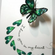 Bleeding Heart Butterfly Card