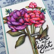 Watercoloring with Tombow & Video