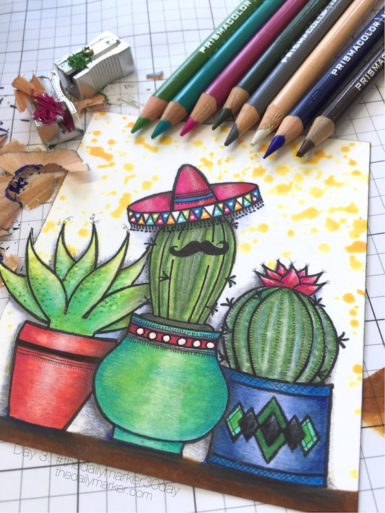 Day 3. Adding Color w/ Pencils- Video - The Daily Marker