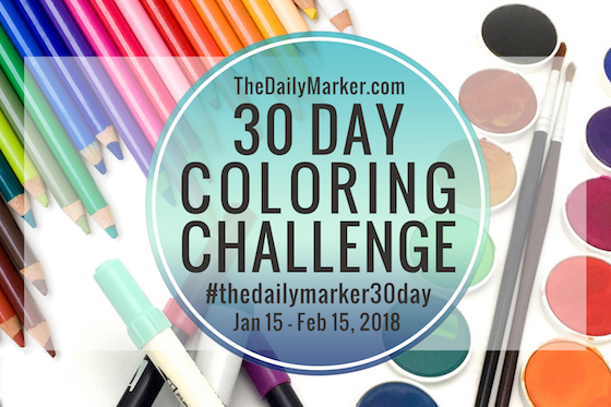Day 27. Mixed Media Enhancing Your Copic Coloring - The Daily Marker