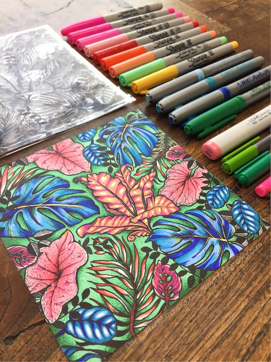 DAY 1. The Daily Marker 30 Day Coloring Challenge - The ...