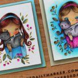 No Line Coloring & Line Coloring Plus Blog Hop & Giveaway