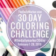 The 30 DAY COLORING CHALLENGE – February 2019